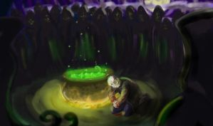 Pettigrew and the deatheaters by HogwartsArt