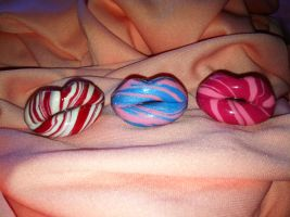Candy Lips Rings by Keykee88