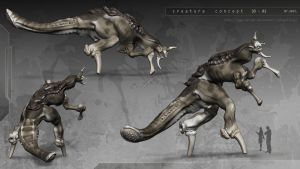 Creature 3D concept 01 by Iggy-design