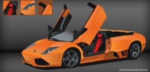 Lamborghini in vector by designer-brain
