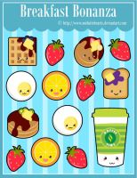 Breakfast Bonanza Sticker Designs by MidniteHearts