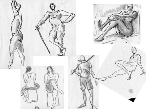 Life-drawing drawings by chrisbreen13