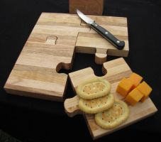 Puzzle Cutting Cheese Board by woodbob