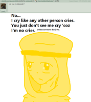 Question 19 - Cry diamonds? by Ask-GoldenStephano