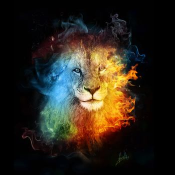 Lions color by greenfeed