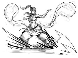 Korra Water Bender Redraw attempt 2 by Sketchydeez