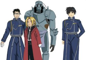 Full Metal Alchemist colour by LadyCyco