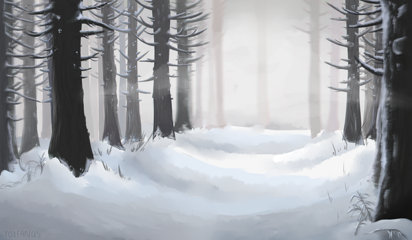 Snow Forest by foxfanqs