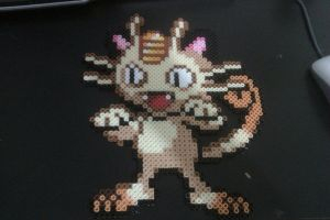 Perler Meowth by cracklebyte