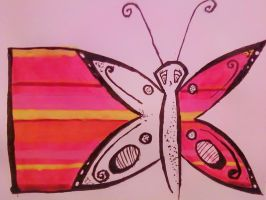 Pink Butterfly by CamWolf