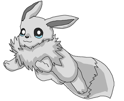 fluffy eevee  base by Midnightflaze