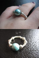 Crafted Magnetic Blue Ring by sampdesigns