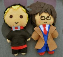 Doctor-Master plushies by Ligechan