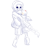 Baby Papy hugs! by Purly