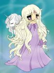 Lady Amalthea Lineart -The Last Unicorn (colored) by TheTwistedBlackAngel