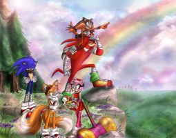 Sonic Boom! - Rainbow Skies by TheHummingInker