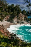 McWay Falls Big Sur again by kayaksailor