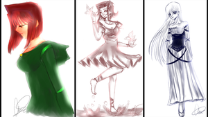 FF based Sketches by lulufangirl