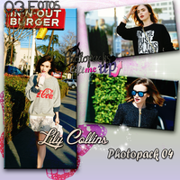Photopack 04 Lily Collins by PhotopacksLiftMeUp