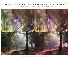 Mystical light Photoshop action by lieveheersbeestje