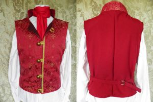 Steampunk-Victorian waistcoat PCW13-12s by JanuaryGuest