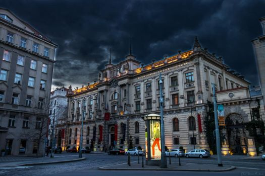 Prague Hotel at Night by KingKlever