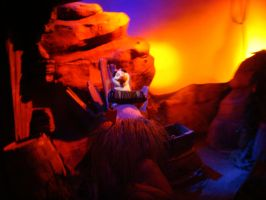 Scuttle plays accordion during Disney Ariel's ride by Magic-Kristina-KW