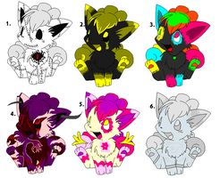 Vulpix Adoptables ::CLOSED:: by star-byte
