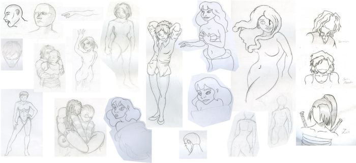 Sketches nr. 1 - women by Ryoshi91
