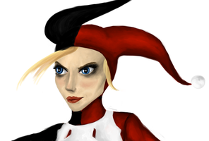 Harley Quinn unmasked by Soirema-pl