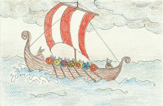 Viking ship by camaseiz
