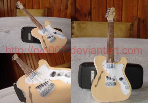 Fender Telecaster Paper Guitar by ryo007