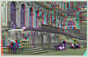 Dresden Zwinger I ::: DRI Anaglyph Stereoscopy by zour