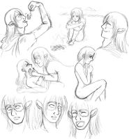 Nicodemus and Elle Sketches by SuirenShinju