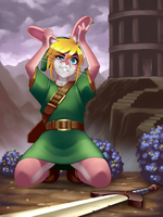 A Link to the past - Bunny Link by RoninDude