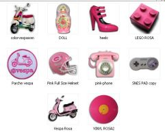 Real pics Pink icons by viraxi