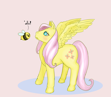 Fluttershy and the bee by nonokono