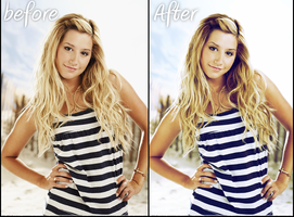Ashley Tisdale Retouch by MonsterGoRAWR