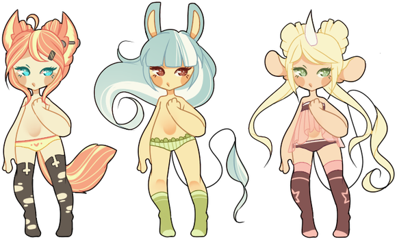 .: Adoptables { closed } :. by PileOfJunk