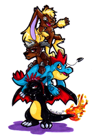 Pokemon Totem Pole by GrannyandStu