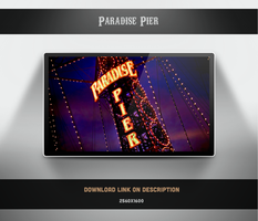 Paradise Pier Wallpaper by theminimalisto