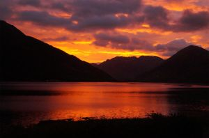 Sunrise over the Kintail Mountains by wallace1298
