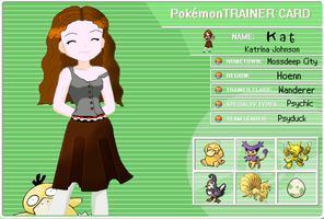 OC Pokemon Trainer Card by mystacisms