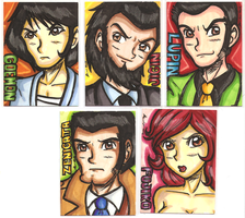 Lupin Sansei Artist Trading Cards by Karrit