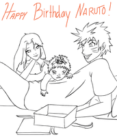Happy Birthday Naruto: One Year Later by RandomlyPurple