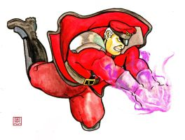 Psycho pawwwwnch - Vega / M.Bison by Shadaloo1989