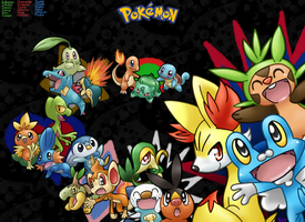Every single Starter Pokemon by FENNEKlNS