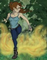 See Lara Croft Run by esmeone