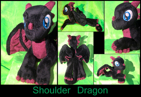 Lean, the shoulder dragon hatchling by Caleighs-World