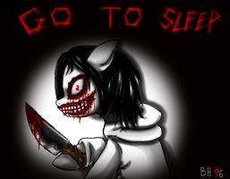 Jeff the Killer Pony by BlazeHart96